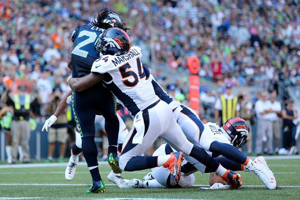 Broncos v Marshawn Lynch Seahawks