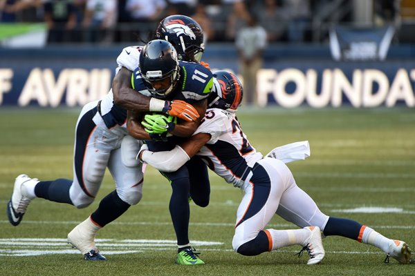 Nate Irving Broncos v Percy Harvin Seahawks