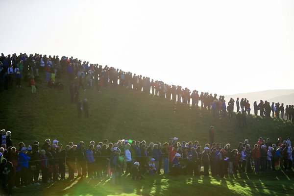 Specators line the course Ryder Cup 2014 Gleneagles