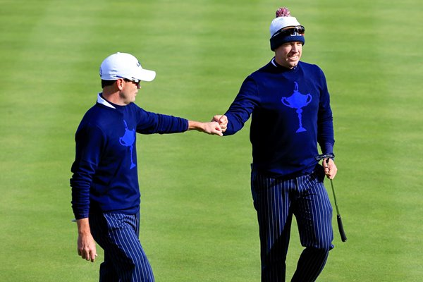 Zach Johnson & Hunter Mahan Ryder Cup 2014