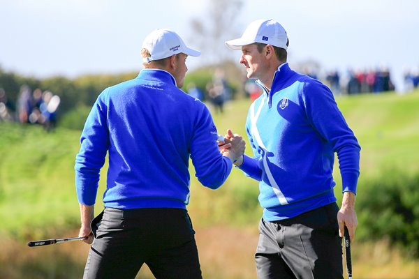 Justin Rose & Henrik Stenson 6th hole Ryder Cup 2014