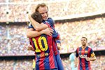 Ivan Rakitic FC Barcelona celebrates Prints
