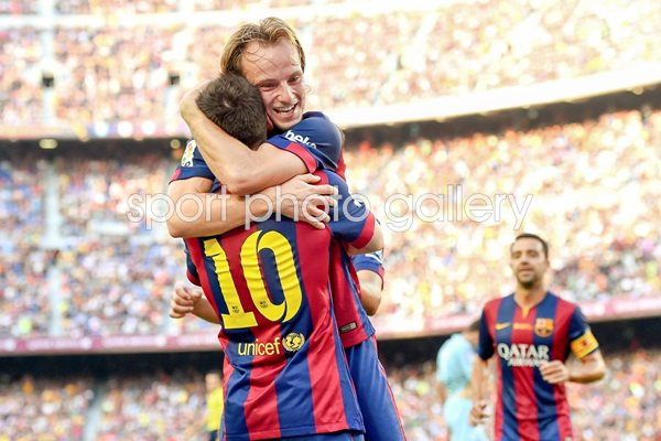 Ivan Rakitic FC Barcelona celebrates