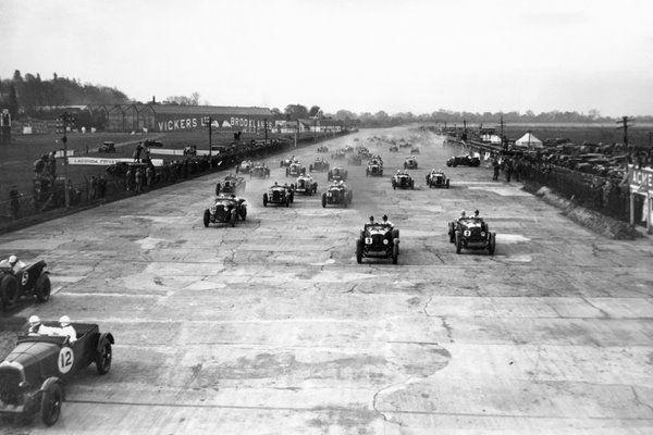 Racing At Brooklands 1930
