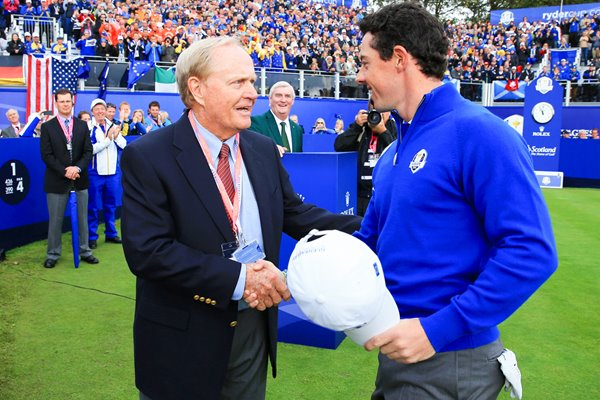 Jack Nicklaus Rory McIlroy Gleneagles Ryder Cup 2014