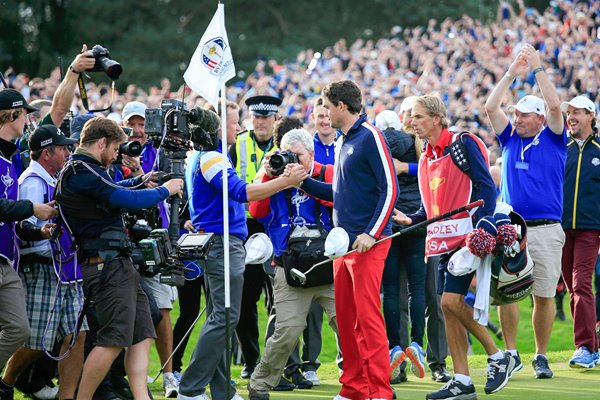 Jamie Donaldson Winning point Europe 2014 Ryder Cup
