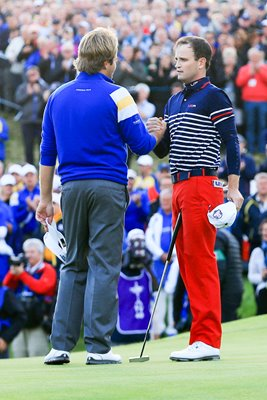 Victor Dubuisson Zach Johnson Singles Half 2014 Ryder Cup