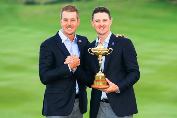 Henrik Stenson and Justin Rose 2014 Ryder Cup Winners