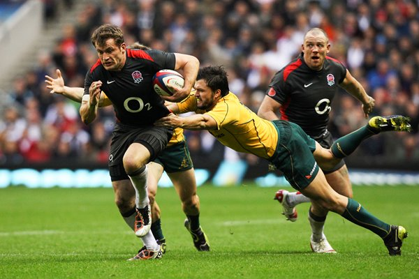 Mark Cueto burst through Australian defence