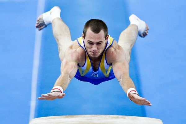 Oleg Verniaiev Ukraine Men`s Vault Final China 2014