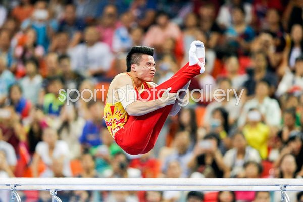 Deng Shudi Chona Men`s Parallel Bars Final 2014