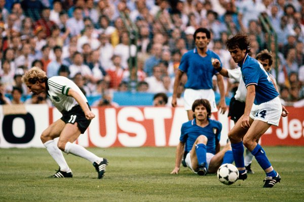 Marco Tardelli Italy v West Germany 1982 World Cup