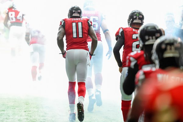 Julio Jones Atlanta Falcons heads out of the tunnel