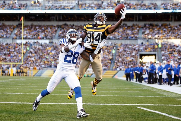 Antonio Brown #84 Pittsburgh Steelers touchdown catch