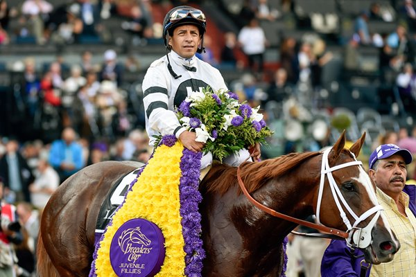 Victor Espinoza Hands Winery Breeder's Cup 2014