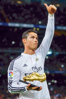 Cristiano Ronaldo Real Madrid with his third Golden Boot