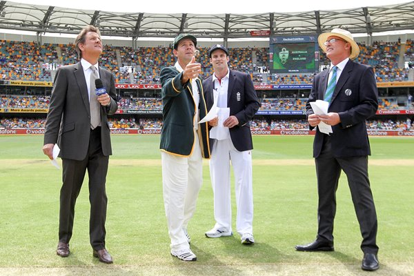Captains Coin Toss - First Test Ashes 2010