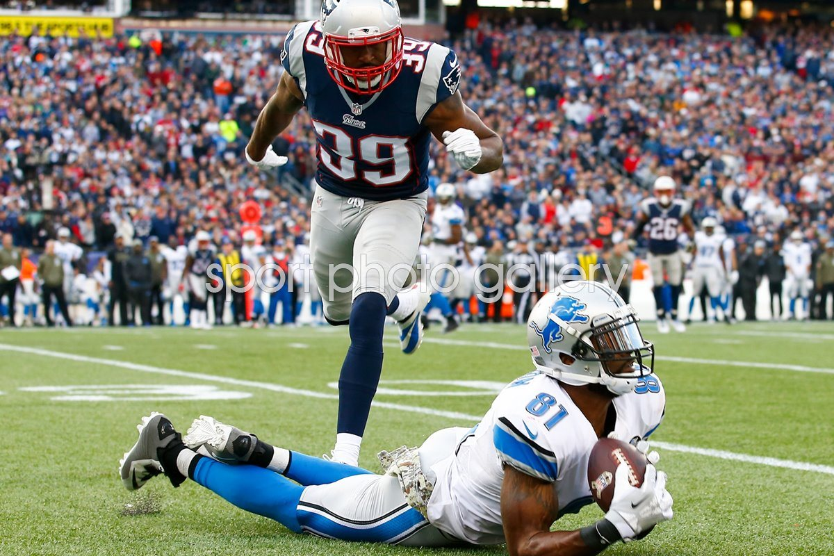 Calvin Johnson Lions v  Patriots 2014