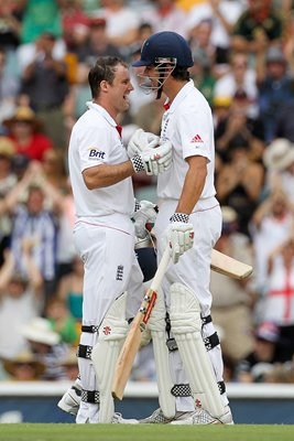 Openers Cook 7 Strauss - Brisbane - 2010 Ashes