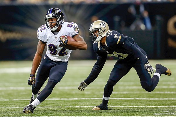 Torrey Smith Ravens v Saints 2014