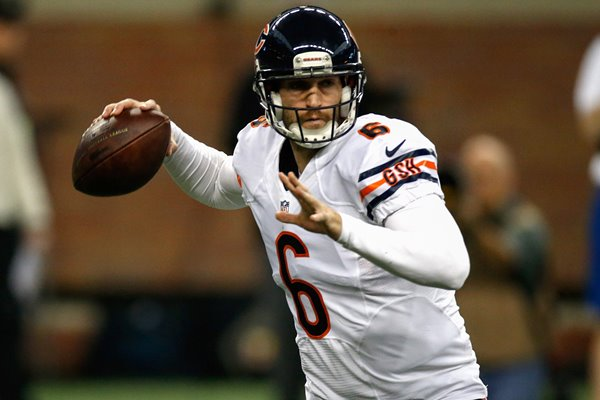 Jay Cutler Bears v Lions Ford Field 2014