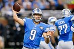 Matthew Stafford Lions v Bears Ford Field 2014 Canvas