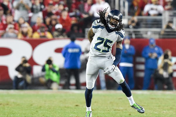 Richard Sherman Seahawks v 49ers Levis Stadium 2014