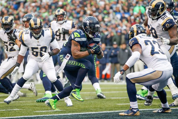 Marshawn Lynch Seattle Seahawks running back 2014