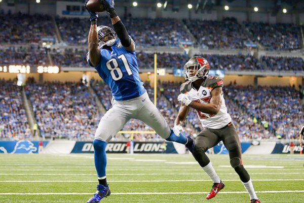 Calvin Johnson Lions v Buccaneers Ford Field 2014