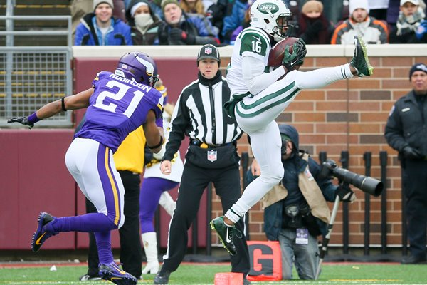Percy Harvin Jets v Vikings Bank Stadium 2014