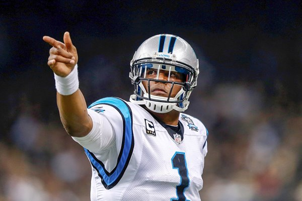 Cam Newton Panthers v Saints Superdome 2014