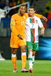 Didier Drogba and Cristiano Ronaldo - World Cup 2010 Prints
