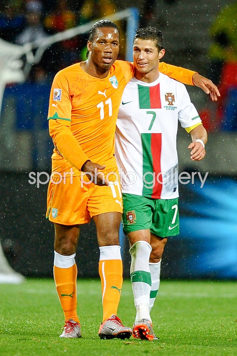 Didier Drogba and Cristiano Ronaldo - World Cup 2010