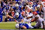 Andrew Luck Indianapolis Colts QB Touchdown v Chiefs 2014 Prints