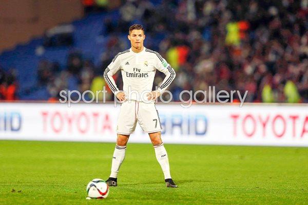 Cristiano Ronaldo Real Madrid Free Kick Stance Print Football