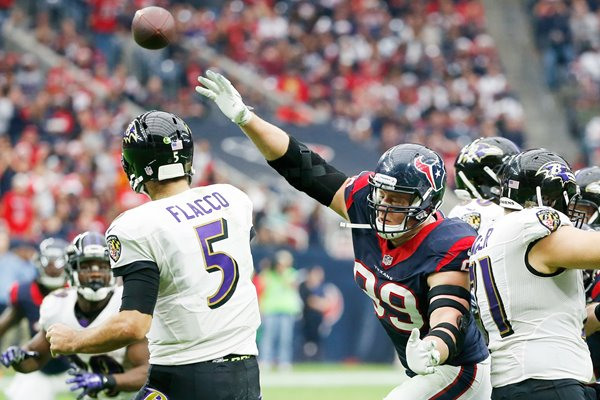 J.J. Watt #99 Houston Texans v Baltimore Ravens