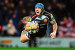 Jack Nowell of Exeter Chiefs dives Prints