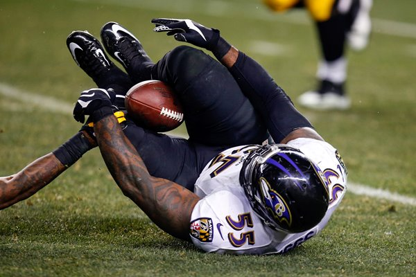 Wild Card Playoffs Terrell Suggs Ravens v Steelers 2015
