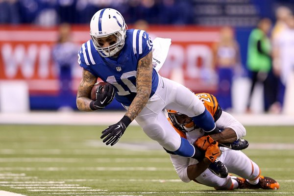Wild Card Playoffs Donte Moncrief Colts v Bengals 2015