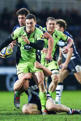 George North Northampton Saints v Sale 2015