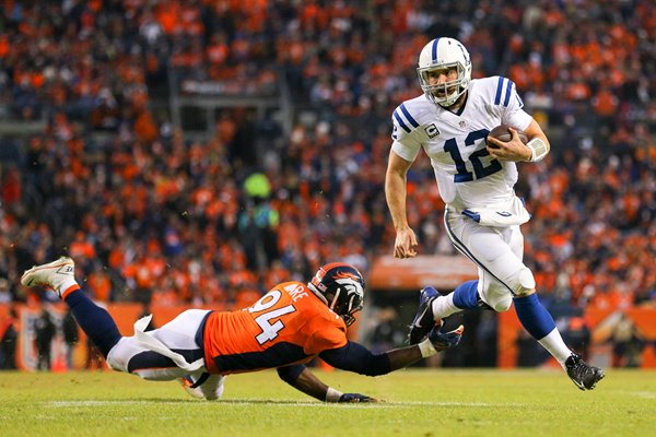 Divisional Playoffs Andrew Luck Colts vr Broncos 2015