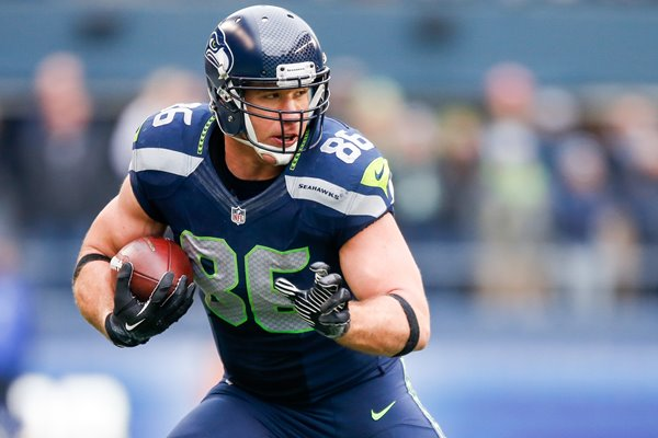 Zach Miller Seattle Seahawks Tight End Playoffs 2014