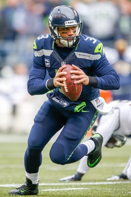 Russell Wilson Seattle Seahawks v Rams Playoffs 2014