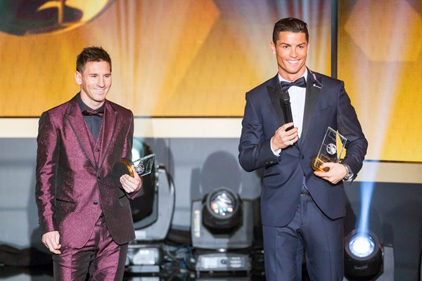 Messi and Ronaldo Ballon d'Or Gala 2014