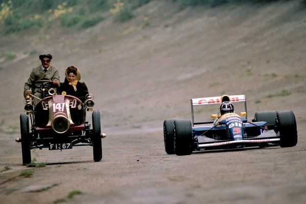 Nigel Mansell at Brooklands 1992