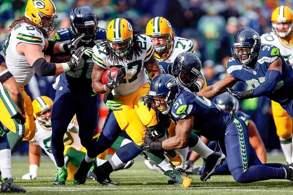 Eddie Lacy Packers v Seahawks 2015