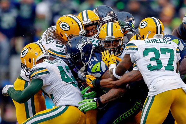 Marshawn Lynch Seahawks v Packers 2015