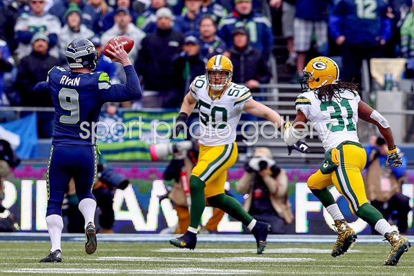 Jon Ryan Seahawks v Packers 2015