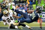 Marshawn Lynch Seattle Seahawks Touchdown v Saints 2014 Prints