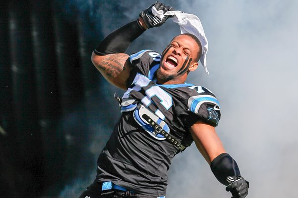 Greg Hardy Carolina Panthers Playoffs 2014